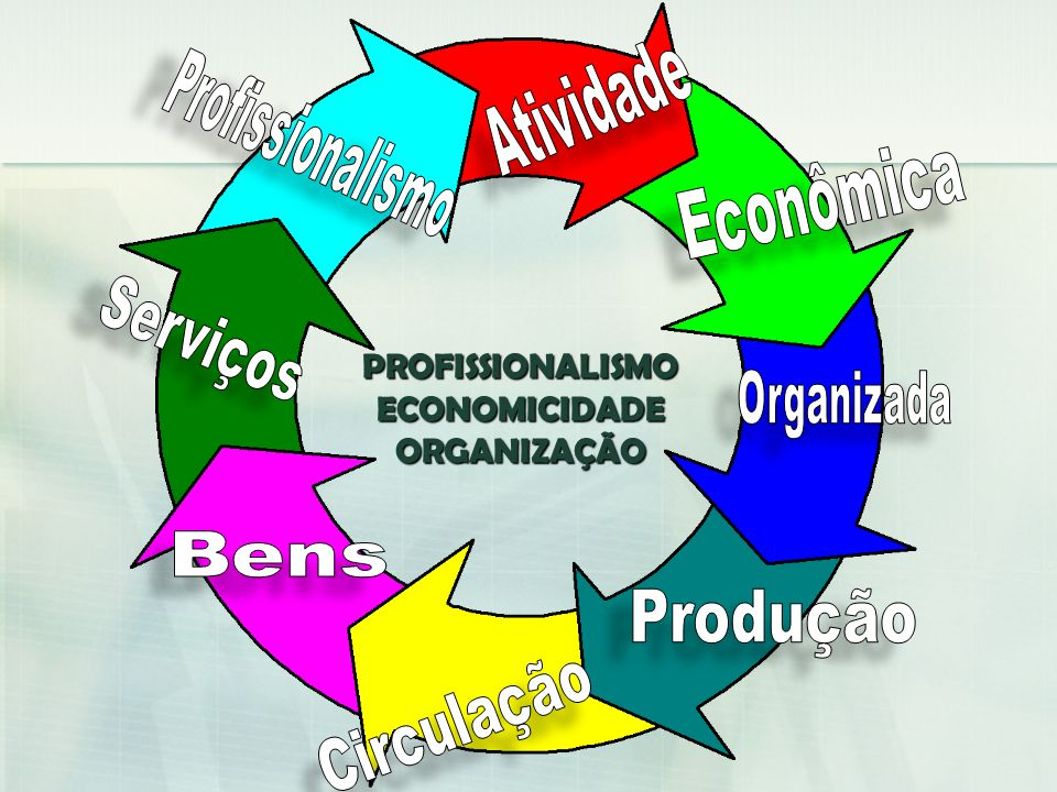 PROFISSIONALISMOECONOMICIDADEORGANIZAÇÃO