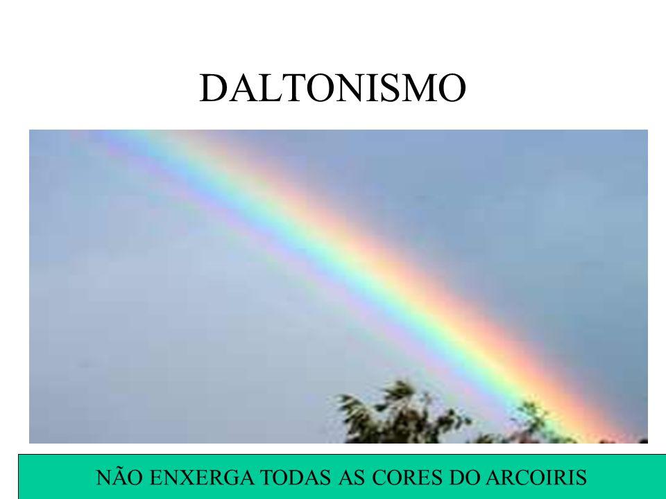 DALTONISMO NÃO ENXERGA TODAS AS CORES DO ARCOIRIS
