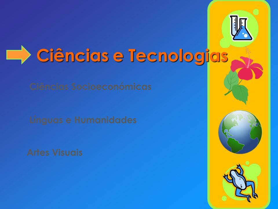 Curso de Ciências e Tecnologias Componente de Formação Disciplinas Carga Horária Semanal (x90 minutos) 10º11º12º Geral Português Língua Estrangeira I,II ou III a) Filosofia Educação Física 22222222 22222222 2--22--2 Sub-total 884 Específica Matemática A 333 Opções b) Física e Química A Biologia e Geologia Geometria descritiva A 3,5 3 3,5 3 ------ Opções c) Biologia Física Química Geologia --3,5 Opções d) Antropologia e) Aplicações Informáticas B e) Ciência Política e) Clássicos da Literatura e) Direito e) Economia C e) Filosofia A e) Geografia C e) Grego e) Língua Estrangeira I, II ou III e)* Psicologia B e) --3 Sub-total 9,5 a 10 Formação Cívica f) 0,5- Educação Moral e Religiosa g) (1) Total 18 a 19,517,5 a 19 13,5 a 15
