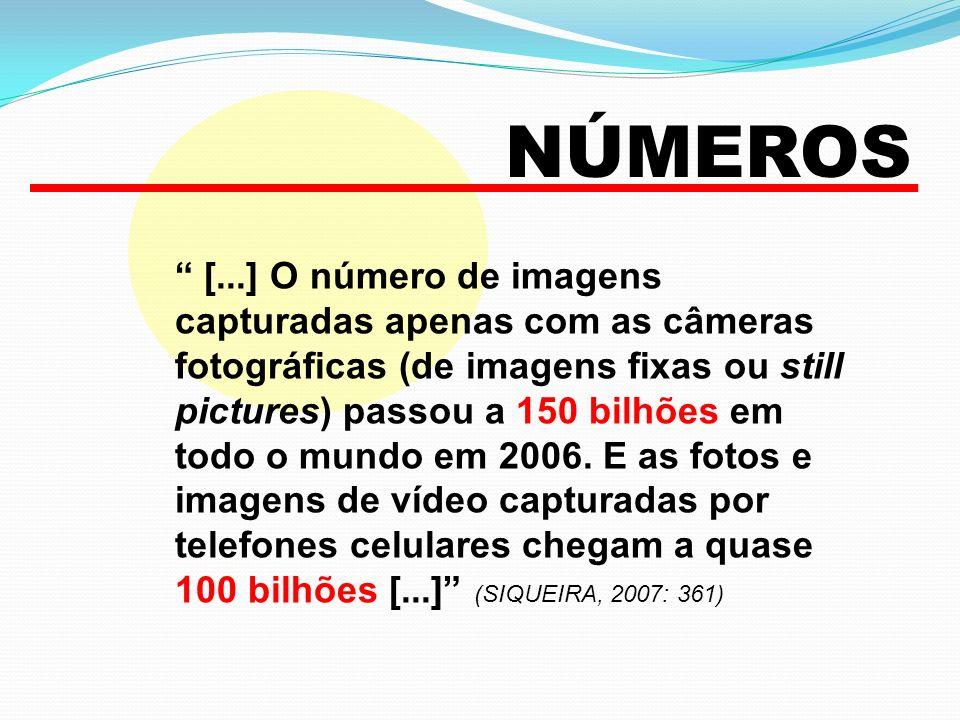 NÚMEROS [...] O número de imagens capturadas apenas com as câmeras fotográficas (de imagens fixas ou still pictures) passou a 150 bilhões em todo o mu