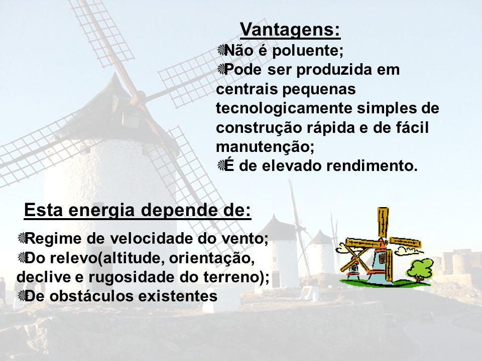 Portugal - capacidade acumulada Jun /04 Parques eólicos em Portugal Ligados à redeEm construçãoTotal MWTurbinasMWTurbinasMWTurbinas Continente348.6334528.0260876.5594 Madeira9.6430.009.643 Açores5.3221.867.128 Total363.4399529.8266893.2665