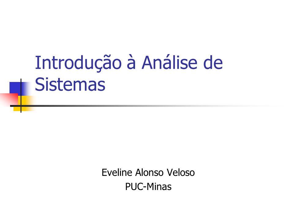 Introdução à Análise de Sistemas Eveline Alonso Veloso PUC-Minas