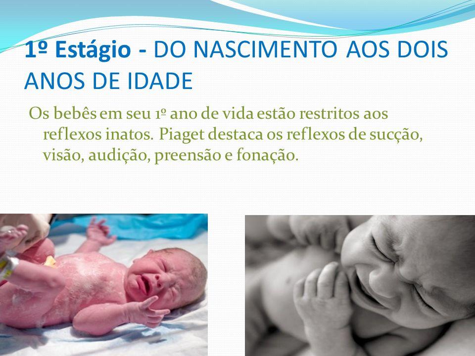 1º Estágio - DO NASCIMENTO AOS DOIS ANOS DE IDADE 1º Estágio - DO NASCIMENTO AOS DOIS ANOS DE IDADE Os bebês em seu 1º ano de vida estão restritos aos