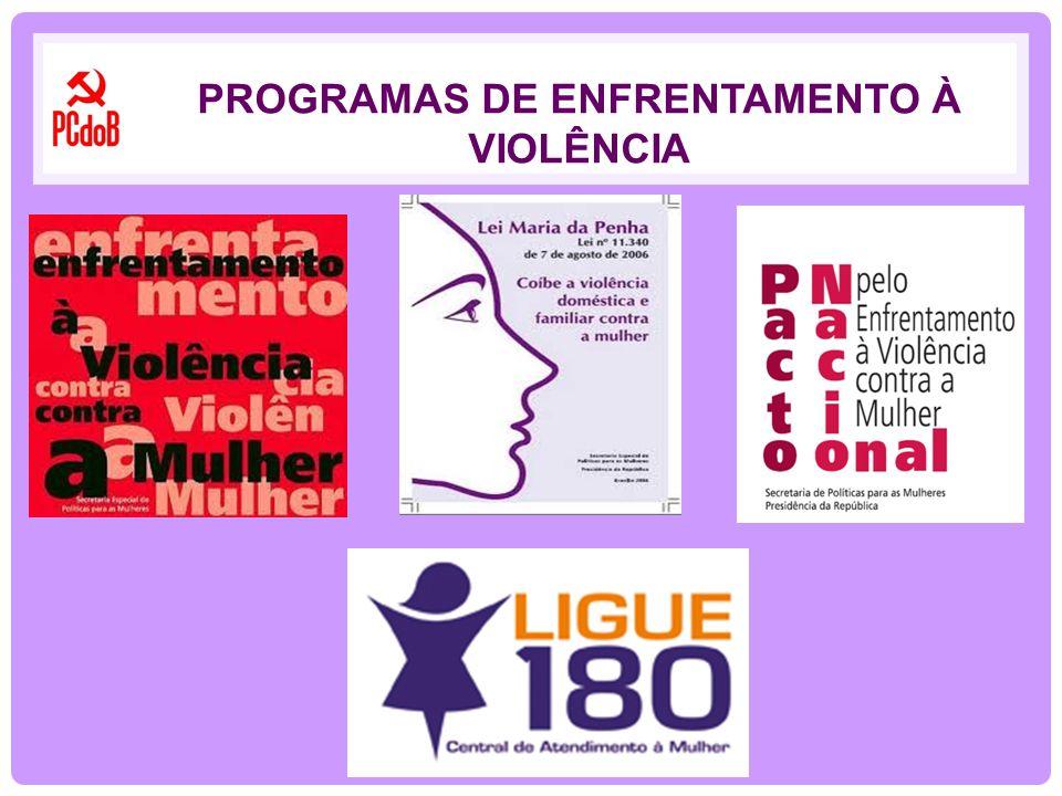 PROGRAMAS DE ENFRENTAMENTO À VIOLÊNCIA