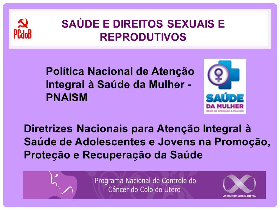 Política Nacional de Atenção Integral à Saúde da Mulher - PNAISM Diretrizes Nacionais para Atenção Integral à Saúde de Adolescentes e Jovens na Promoç