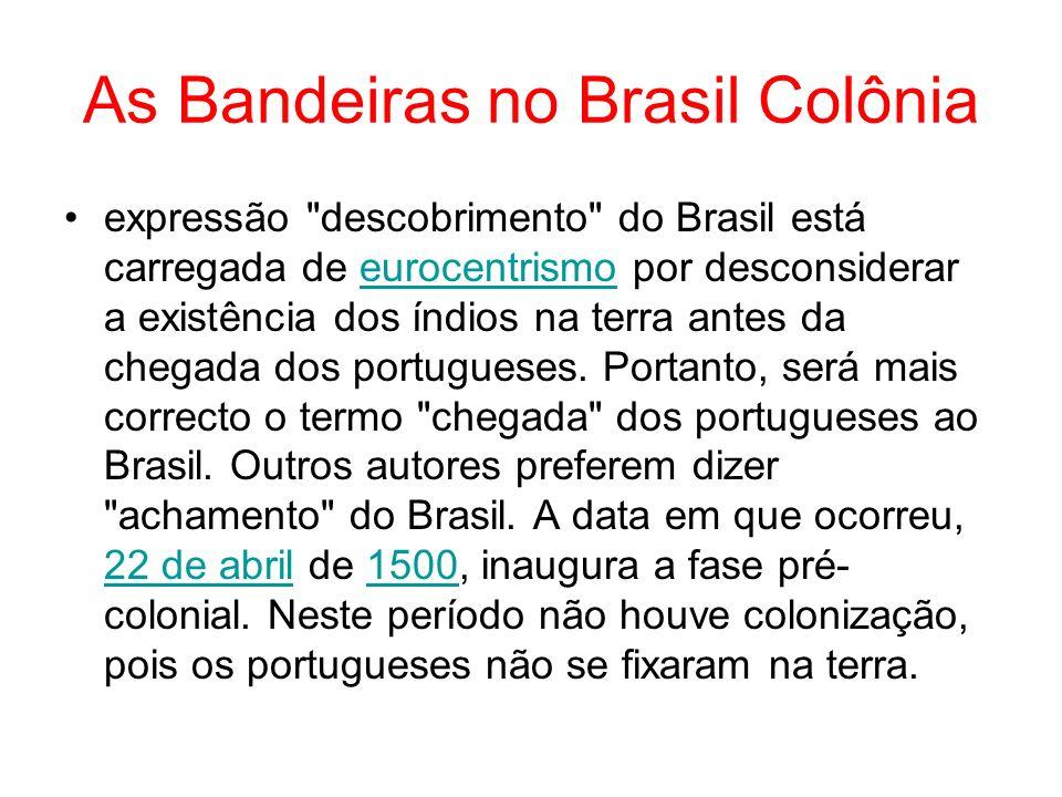 As Bandeiras no Brasil Colônia expressão