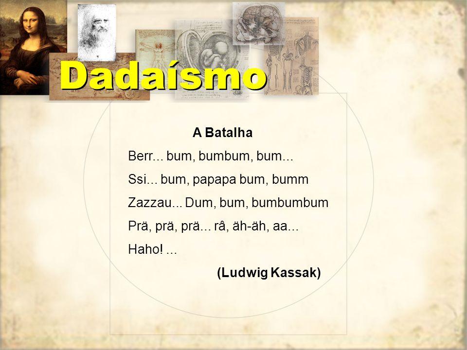 No último manifesto do movimento (ao todo foram sete), Tzara dá uma receita para fazer um poema dadaísta: Pegue um jornal. Pegue a tesoura. Escolha no