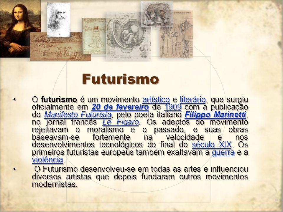 Contexto Intelectual: 1.Psicanálise (o inconsciente), de Sigmund Freud; 2.Intuicionismo (fonte do conhecimento), de Henry Bergson; 3.A morte de Deus e