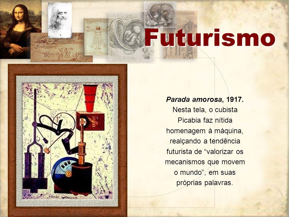 Futurismo O futurismo é um movimento artístico e literário, que surgiu oficialmente em 20 de fevereiro de 1909 com a publicação do Manifesto Futurista