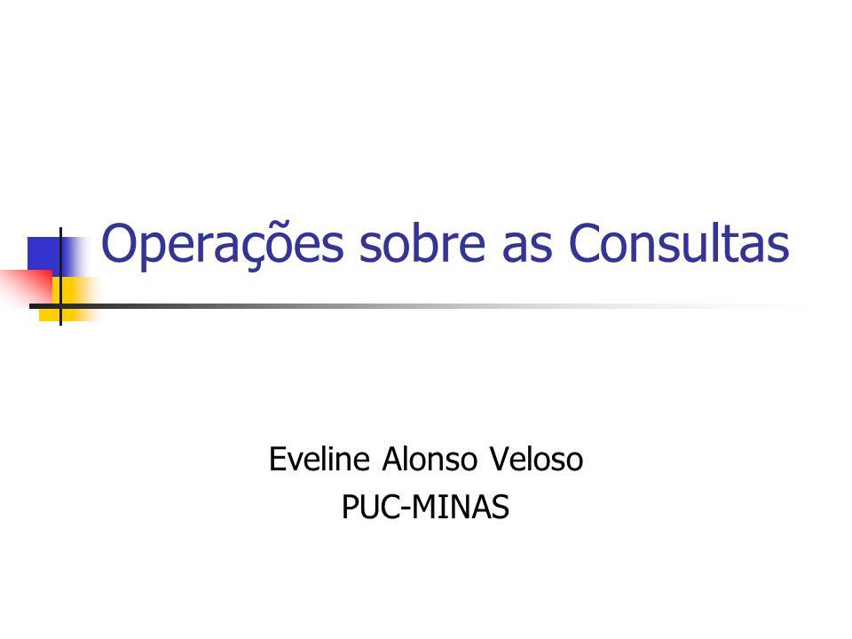 Operações sobre as Consultas Eveline Alonso Veloso PUC-MINAS