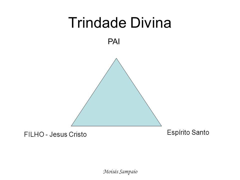 Trindade Divina Espírito Santo FILHO - Jesus Cristo PAI Moisés Sampaio