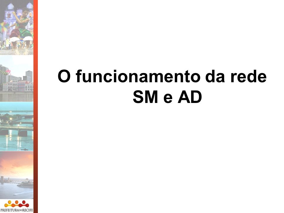 O funcionamento da rede SM e AD