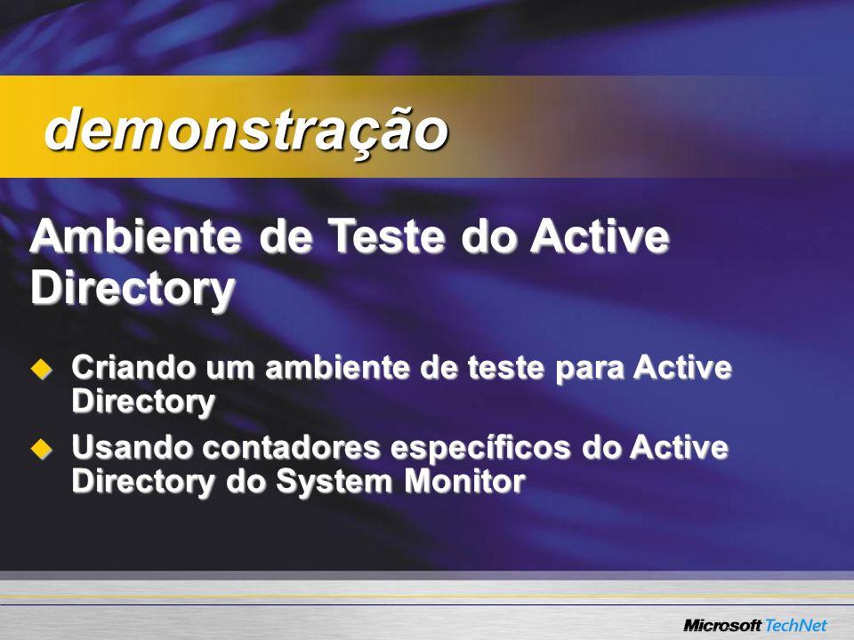 Ambiente de Teste do Active Directory Criando um ambiente de teste para Active Directory Criando um ambiente de teste para Active Directory Usando con