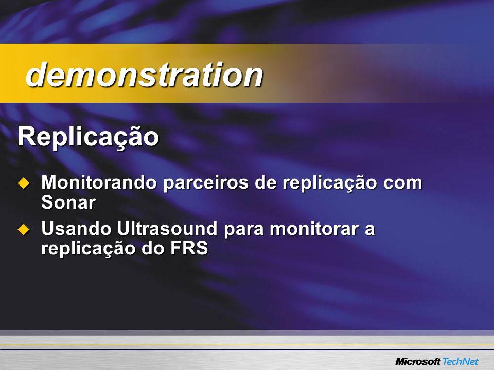 Replicação Monitorando parceiros de replicação com Sonar Monitorando parceiros de replicação com Sonar Usando Ultrasound para monitorar a replicação d