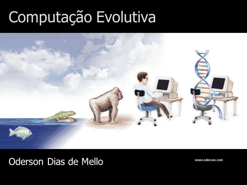 Estrutura básica de um Algoritmo Genético População Avaliação da Aptidão Seleção Cruzamento Mutação Operadores genéticos Critério de Parada.