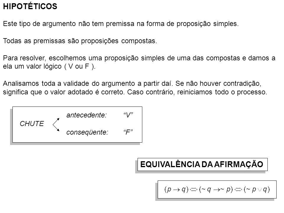 EQUIVALÊNCIA DA NEGAÇÃO DIRETA Exemplo: p ^ q :Daniel é tricolor e vascaíno.