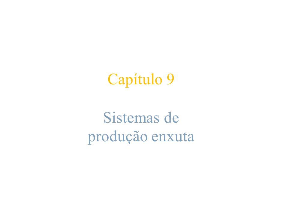 Capítulo 9 Sistemas de produção enxuta