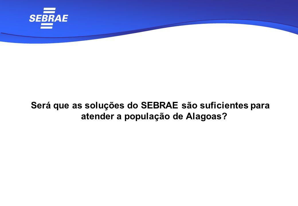 Será que as soluções do SEBRAE são suficientes para atender a população de Alagoas?