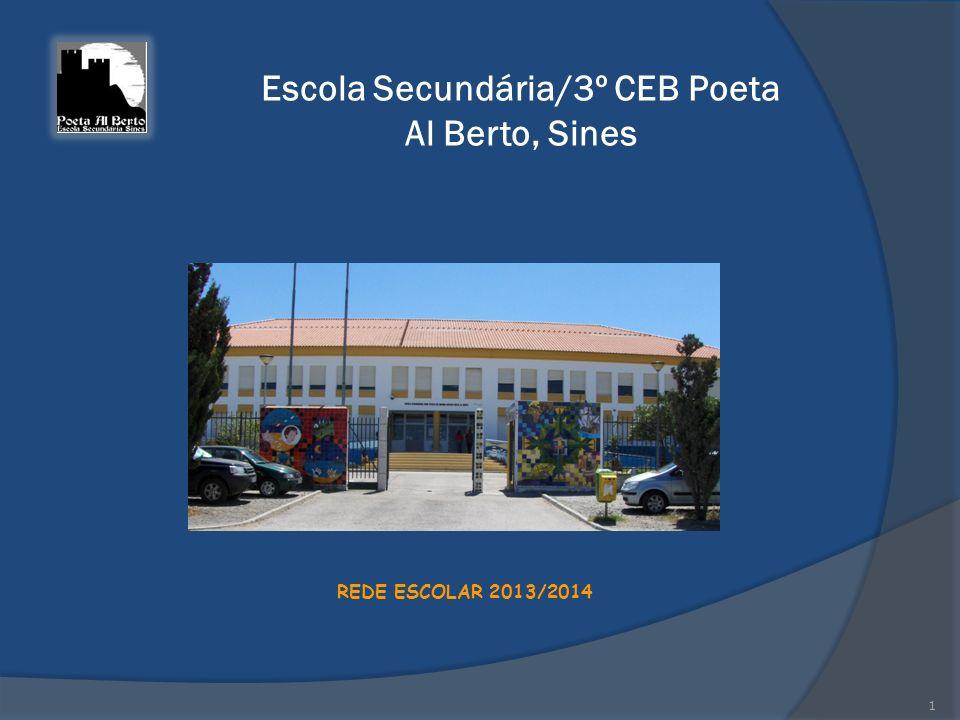 Escola Secundária/3º CEB Poeta Al Berto, Sines REDE ESCOLAR 2013/2014 1