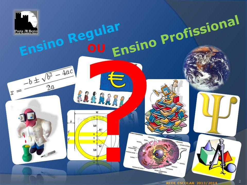 2 ? Ensino Regular Ensino Profissional OU