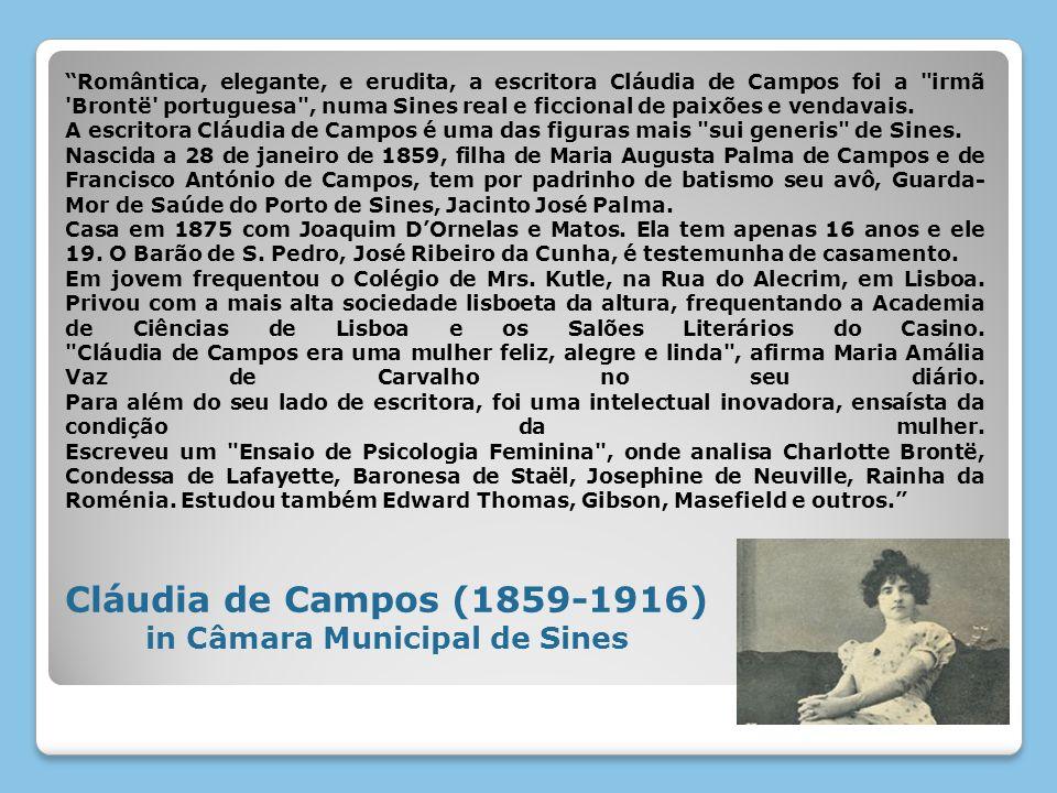 Romântica, elegante, e erudita, a escritora Cláudia de Campos foi a