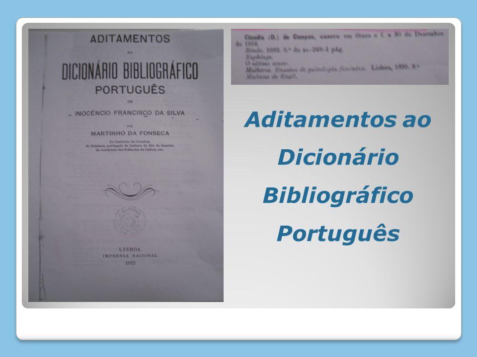 Aditamentos ao Dicionário Bibliográfico Português