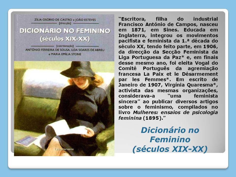 Escritora, filha do industrial Francisco António de Campos, nasceu em 1871, em Sines. Educada em Inglaterra, integrou os movimentos pacifista e femini