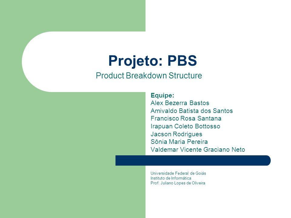 Cliente: Patrocinador Reunião para Eliciação de Requisitos – Questionamentos: Necessidade N5: Deverá ser possível apresentar a PBS de um software, sem nenhuma referência aos projetos que o desenvolveram ou modificaram.