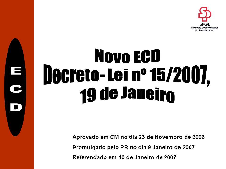 Aprovado em CM no dia 23 de Novembro de 2006 Promulgado pelo PR no dia 9 Janeiro de 2007 Referendado em 10 de Janeiro de 2007