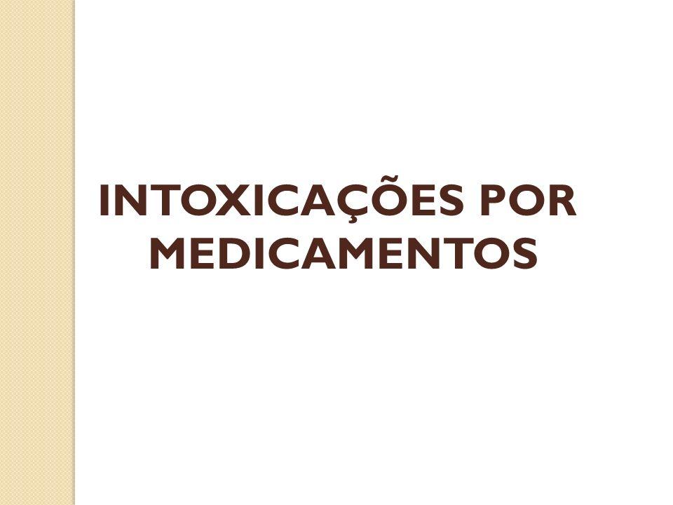 Dosagem sérica de salicilatos após 6 h da ingestão: Nomograma de DONE Gasometria arterial e pH urinário Glicemia Uréia, creatinina e eletrólitos (Na +, K +, Ca 2+, Mg 2+ e Cl - ) Hemograma completo com dosagem de plaquetas Coagulograma completo SALICILATOS - DIAGNÓSTICO LABORATORIAL