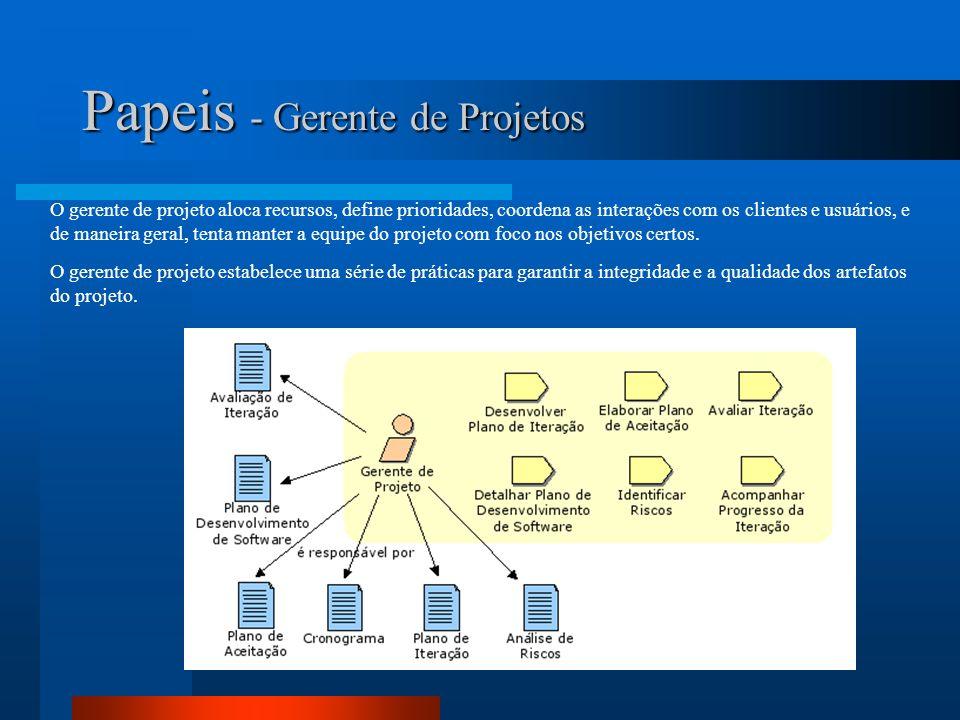 Papeis - StakeHolders Os stakeholders são os interessados no projeto.
