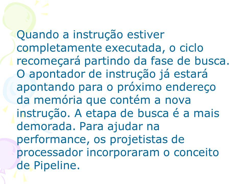 Pipelining É uma técnica desenvolvida para melhorar o desempenho de processadores.