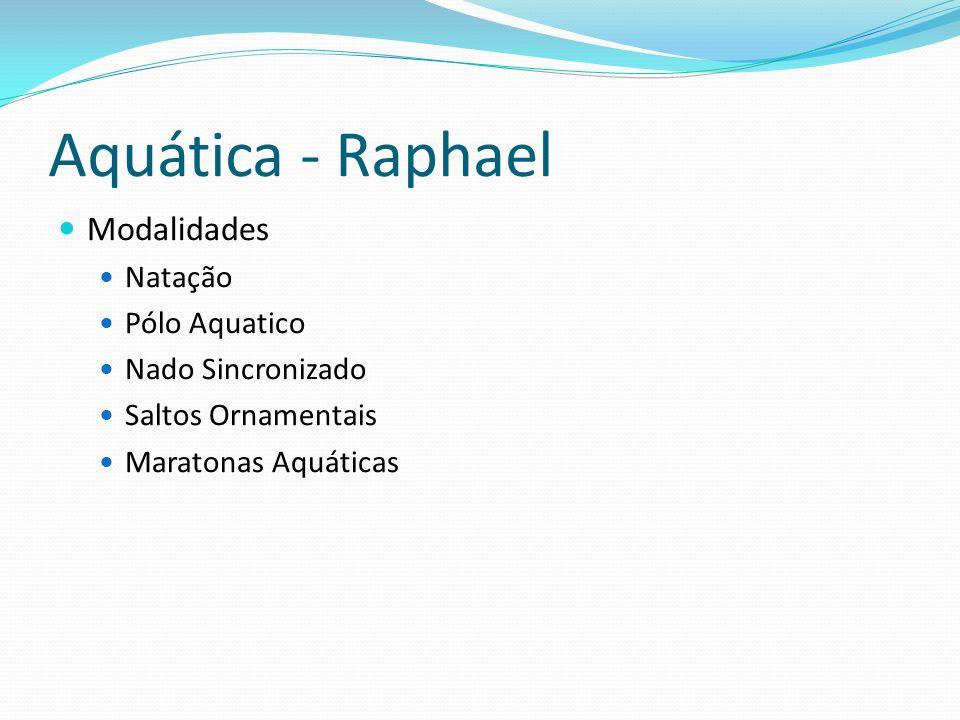Aquática - Raphael Modalidades Natação Pólo Aquatico Nado Sincronizado Saltos Ornamentais Maratonas Aquáticas