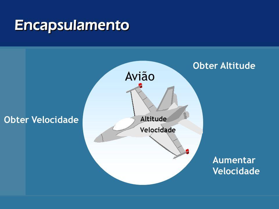 Encapsulamento Avião Velocidade Altitude Obter Velocidade Obter Altitude Aumentar Velocidade