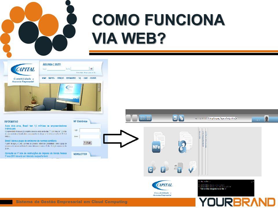 Sistema de Gestão Empresarial em Cloud Computing COMO FUNCIONA VIA WEB?