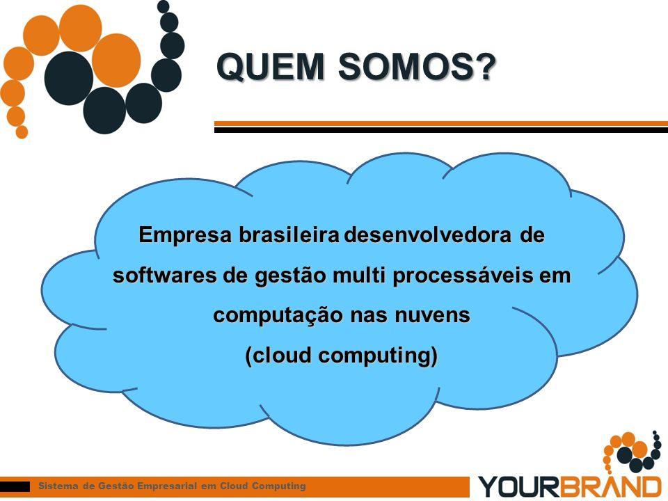 Sistema de Gestão Empresarial em Cloud Computing QUEM SOMOS? Empresa brasileira desenvolvedora de softwares de gestão multi processáveis em computação