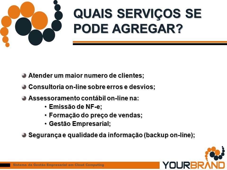 Sistema de Gestão Empresarial em Cloud Computing QUAIS SERVIÇOS SE PODE AGREGAR.