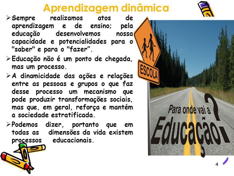 4 Sempre realizamos atos de aprendizagem e de ensino; pela educação desenvolvemos nossa capacidade e potencialidades para o
