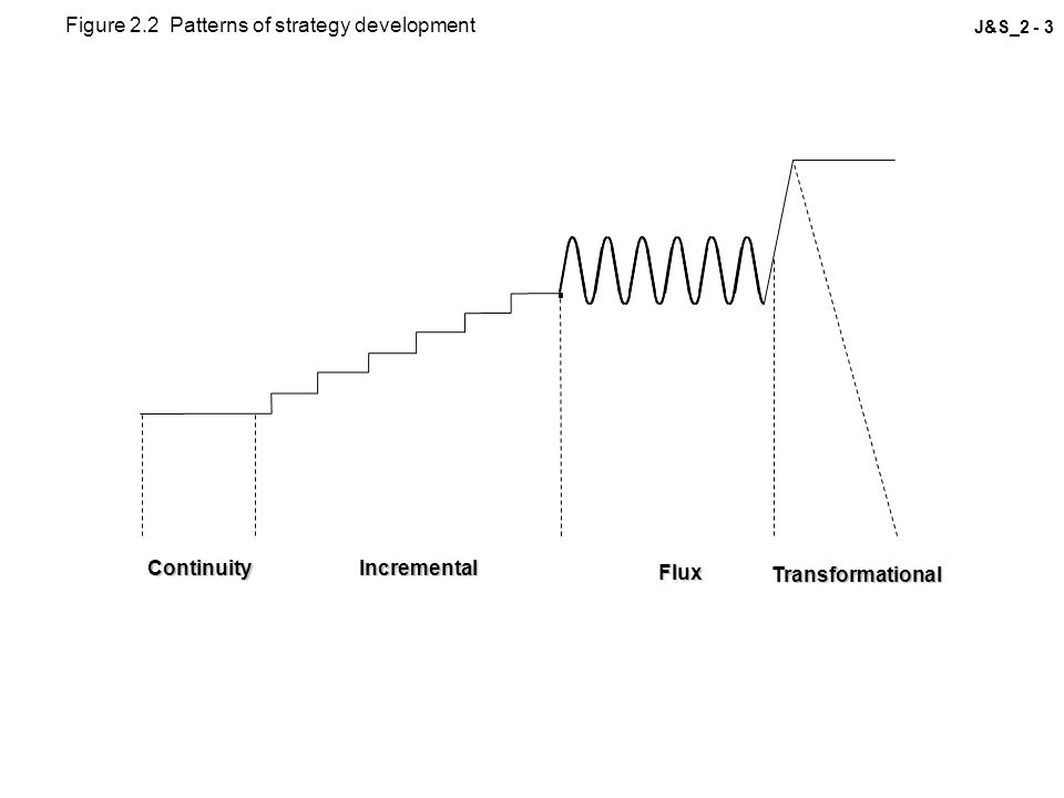 J&S_2 - 3ContinuityIncremental Flux Transformational Figure 2.2 Patterns of strategy development