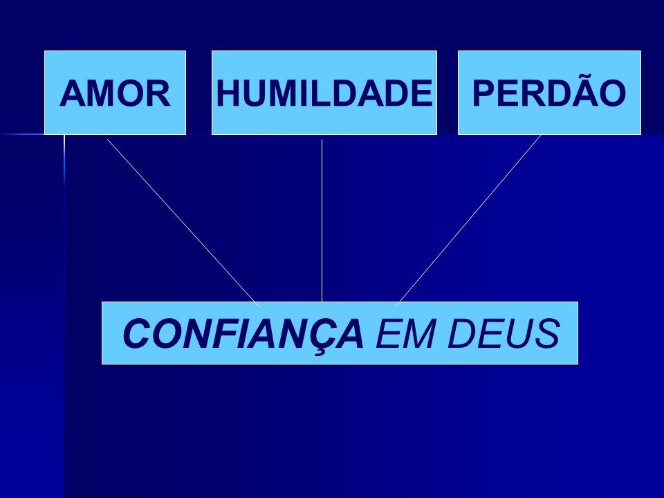 AMOR HUMILDADE PERDÃO CONFIANÇA EM DEUS