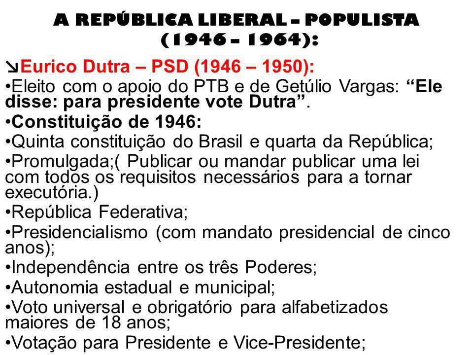 Governo Juscelino Kubitschek Juscelino Kubitschek – PSD (1955 – 1961): JK o presidente Bossa Nova; Anistia aos envolvidos na tentativa de golpe; Interiorização do desenvolvimento.