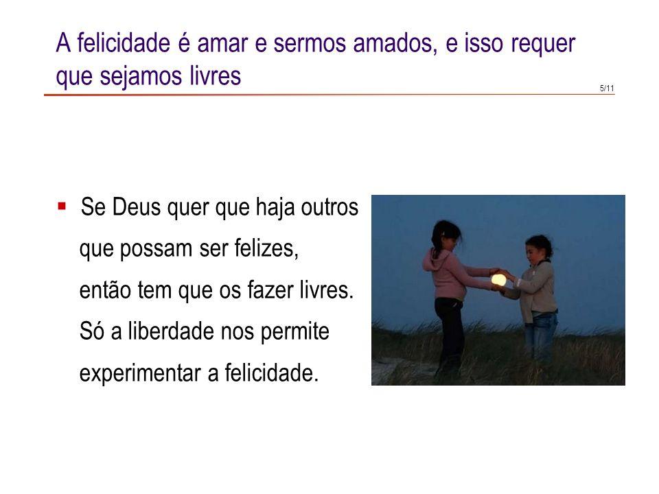 3/11 Qual pode ser o motivo para que Deus se meta nesta complicação de criar pessoas livres, que podem falhar-lhe? Qual pode ser a intenção que anima