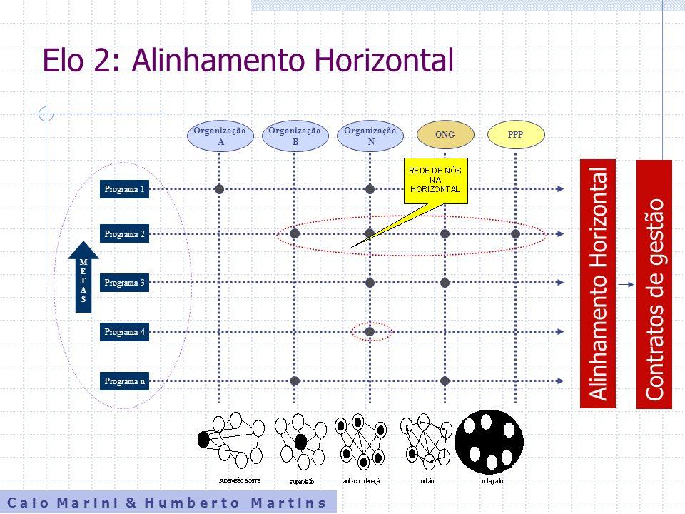 C a i o M a r i n i & H u m b e r t o M a r t i n s Elo 2: Alinhamento Horizontal METASMETAS Programa 1 Programa 2 Programa 3 Programa 4 Programa n Or