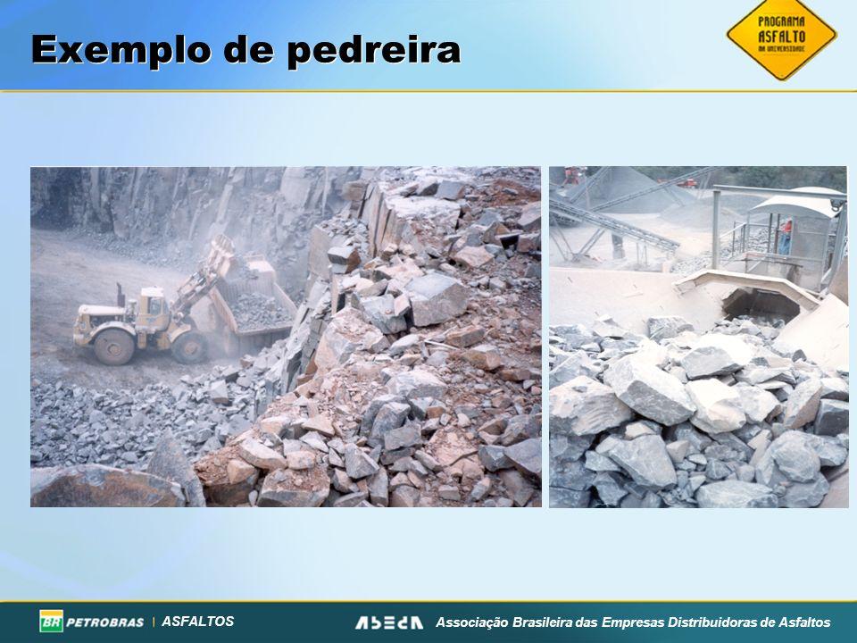 ASFALTOS Associação Brasileira das Empresas Distribuidoras de Asfaltos Exemplo de pedreira