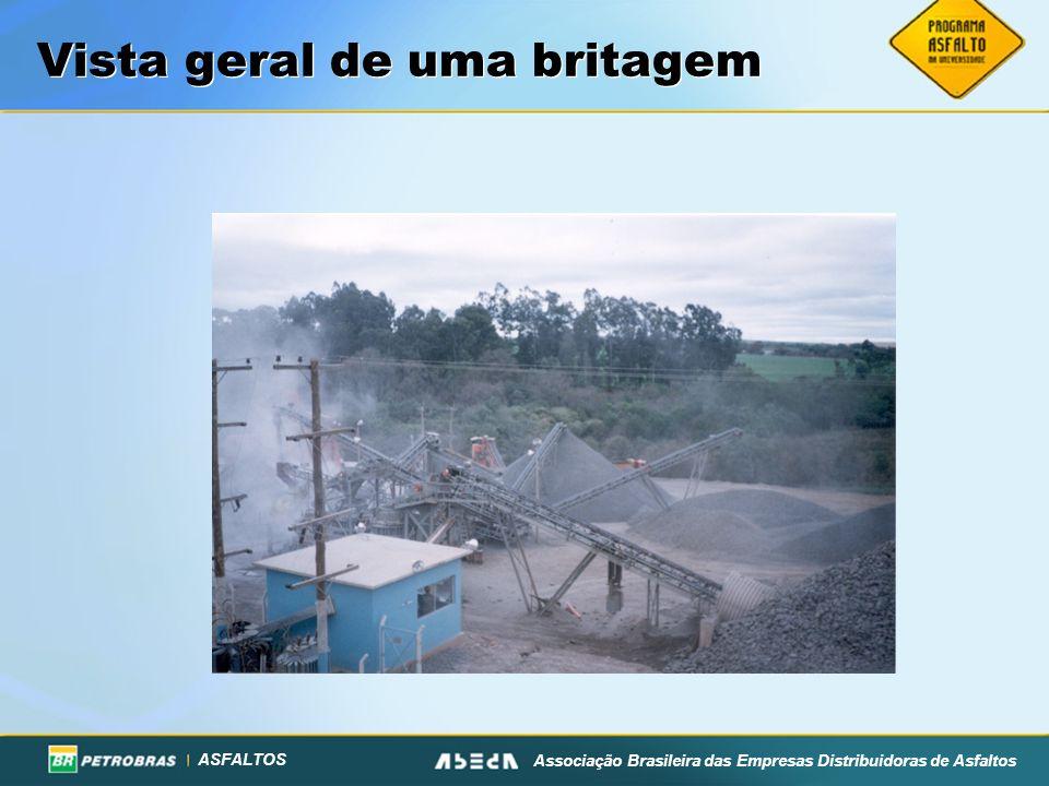 ASFALTOS Associação Brasileira das Empresas Distribuidoras de Asfaltos Vista geral de uma britagem