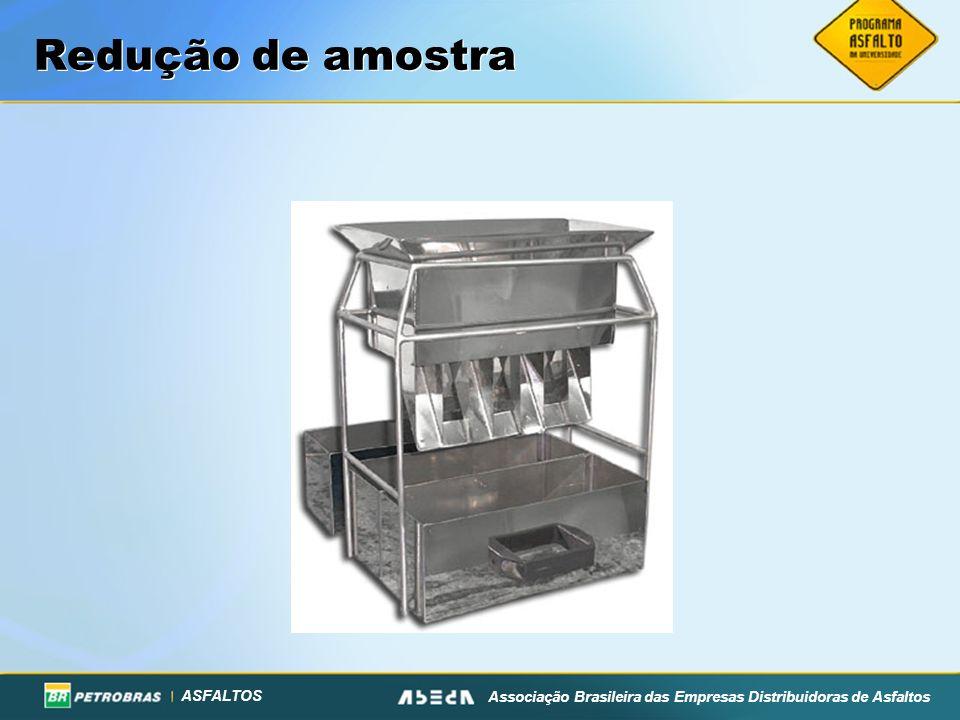 ASFALTOS Associação Brasileira das Empresas Distribuidoras de Asfaltos Redução de amostra