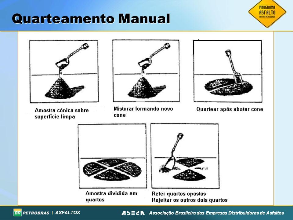 ASFALTOS Associação Brasileira das Empresas Distribuidoras de Asfaltos Quarteamento Manual