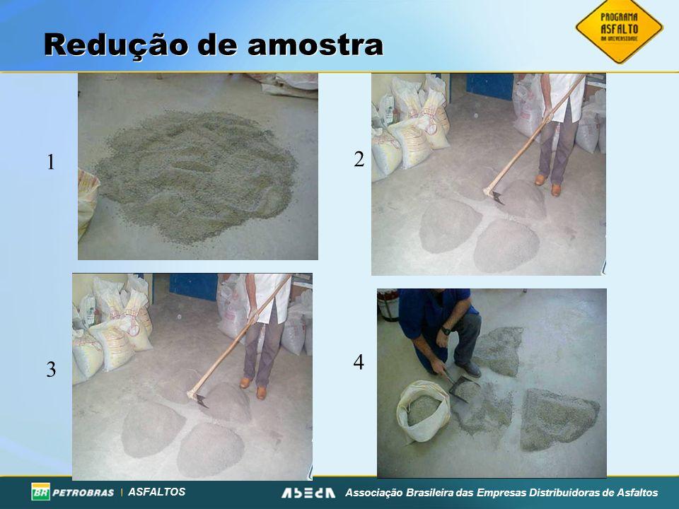ASFALTOS Associação Brasileira das Empresas Distribuidoras de Asfaltos Redução de amostra 1 2 3 4