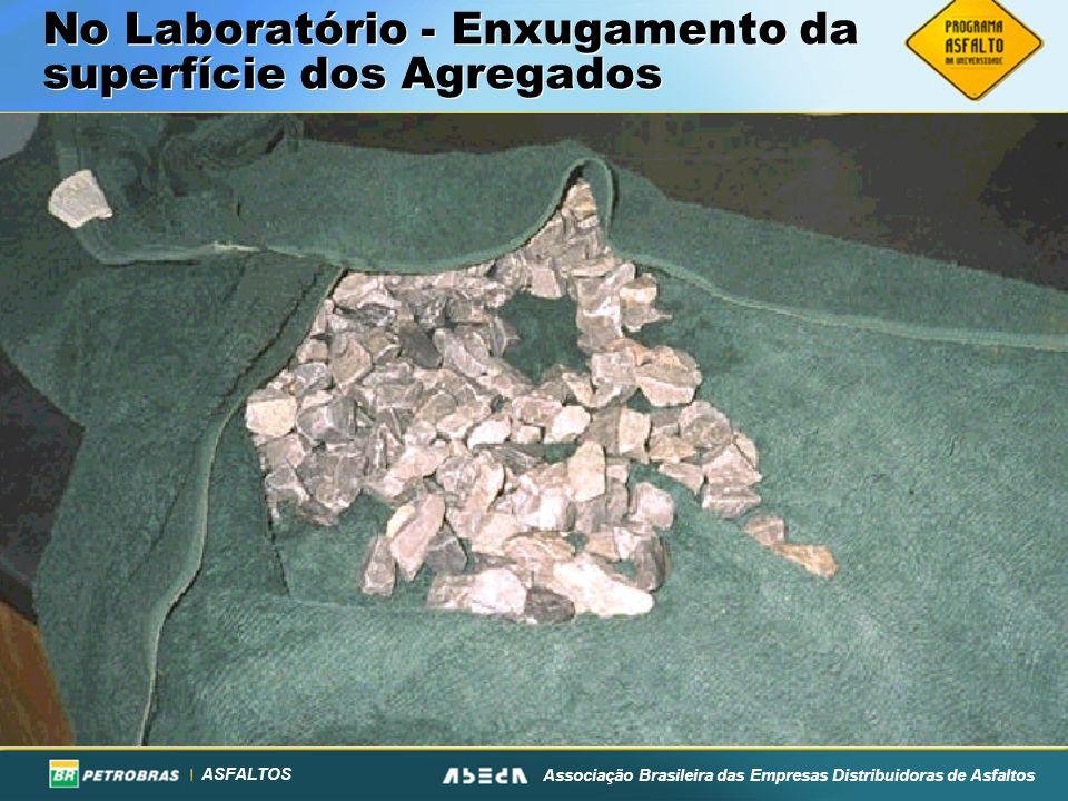 ASFALTOS Associação Brasileira das Empresas Distribuidoras de Asfaltos No Laboratório - Enxugamento da superfície dos Agregados