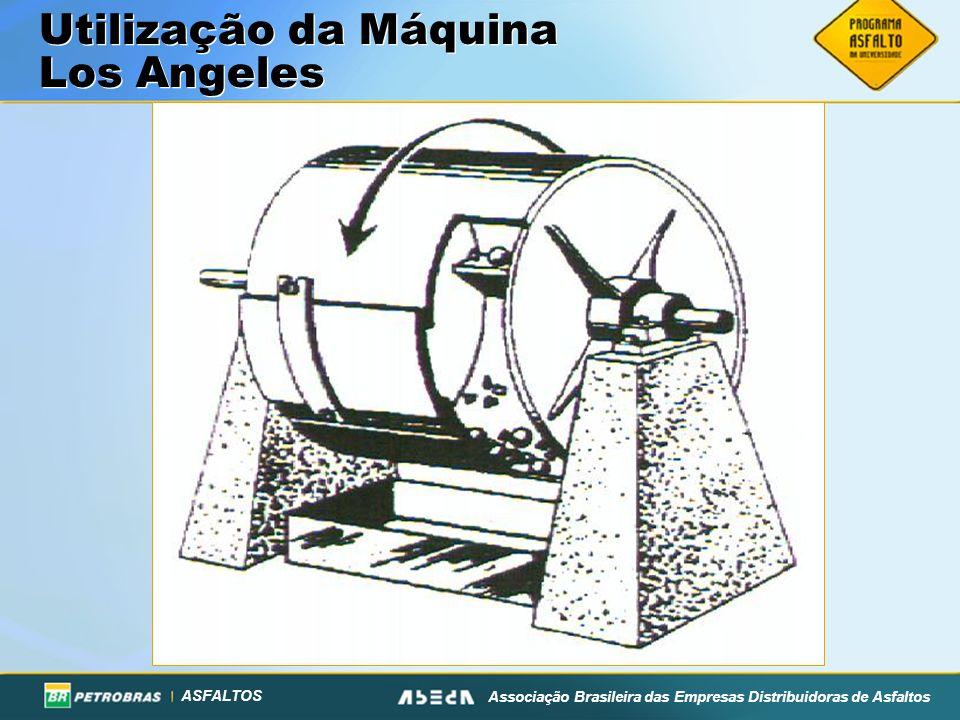 ASFALTOS Associação Brasileira das Empresas Distribuidoras de Asfaltos Utilização da Máquina Los Angeles